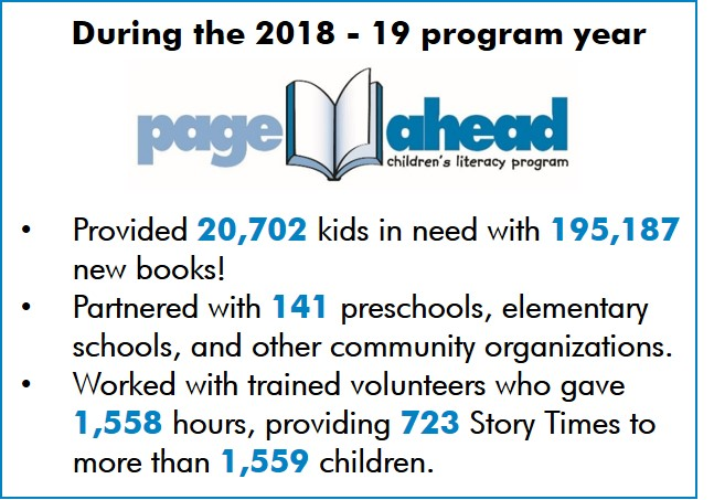 Page Ahead Children's Literacy Program   Help Page Ahead